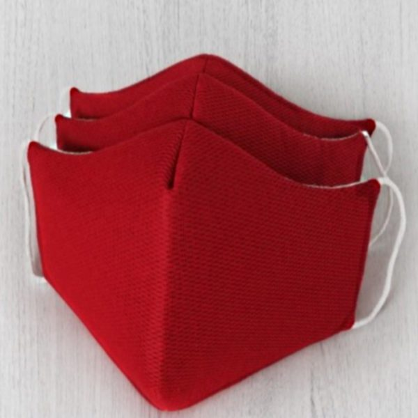 Tapabocas Anatómicos Unicolor - Color Rojo