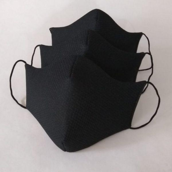 Tapabocas Anatómicos Unicolor - Color Negro